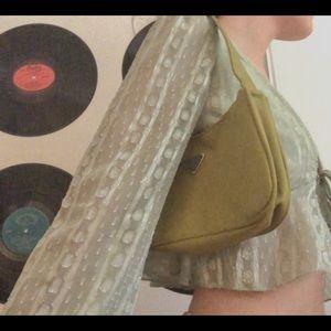 Green mini shoulder bag